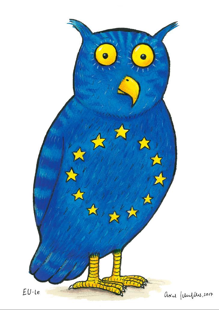 Axel Scheffler's Heraldic animal for the EU