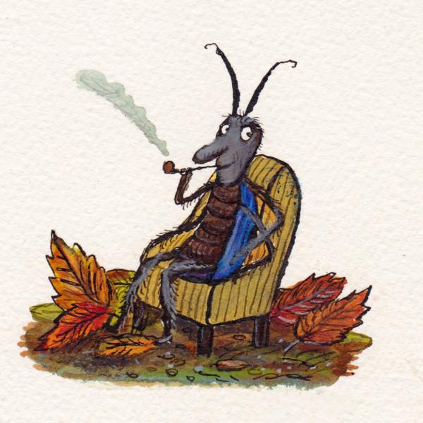 smoking bug illustration