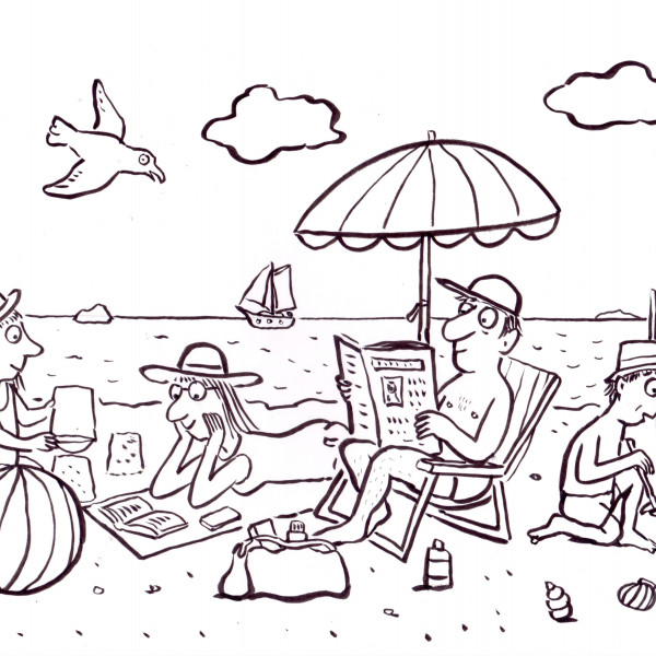 On the Beach illustration