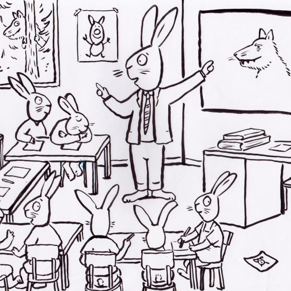Rabbit Classroom illustration